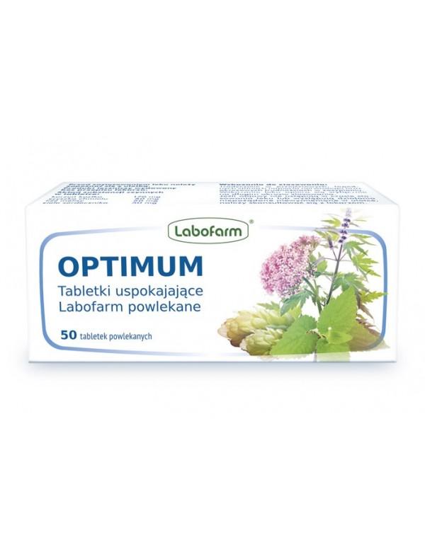 Ziołowy lek uspokajający - Optimum Tabletki uspokajające Labofarm