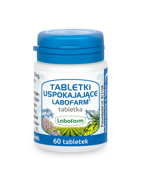 Tabletki uspokajające Labofarm - ziołowy lek na uspokojenie x 60 tabletek